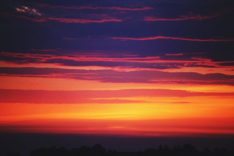 Sunrise Sunset Scenics Orange Color Beauty In Nature Tranquil Scene Nature Tranquility Silhouette Sky No People Landscape Outdoors Day The Great Outdoors - 2017 EyeEm Awards EyeEmNewHere