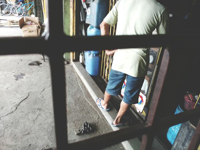 Hanging Out Shop Gate Caged From My Window Lock Chain Philippines Cainta