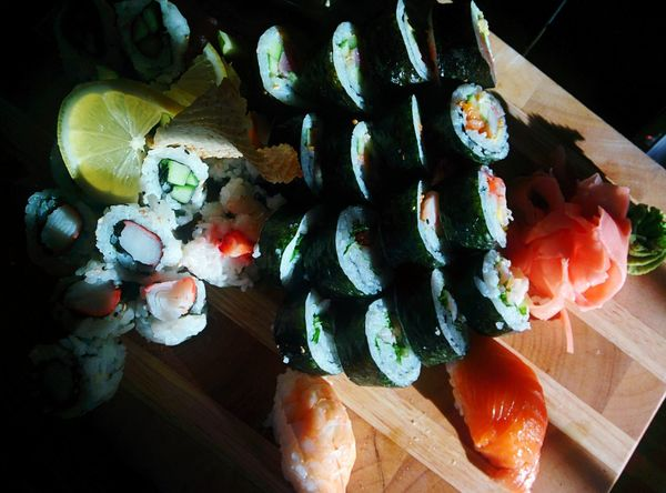 Food And Drink Healthy Eating Sushi Time Ready-to-eat Freshness Food Indoors Close-up Day