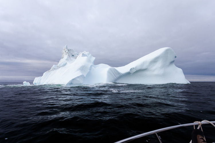 Ice berg in the gulf of st lawrence, quebec.