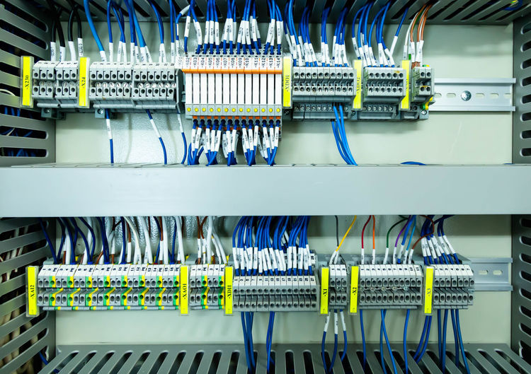 Close-up of electrical equipment