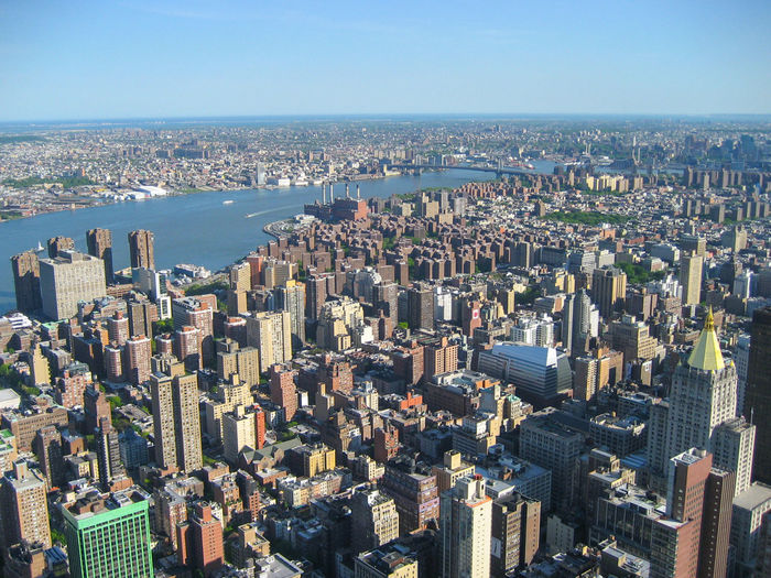 New York City view from top Manhattan New York Skyline Top Architecture Building Building Exterior Built Structure City Cityscape Crowd Day Downtown District Financial District  Modern Nature Office Building Exterior Outdoors Residential District Sky Skyscraper Tall - High Travel Destinations Urban Skyline Water