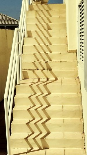 The sun drawing your shadow Sun, Shadows, Reflection In A Row Staircase Steps And Staircases Steps Large Group Of Objects Wood - Material Arrangement