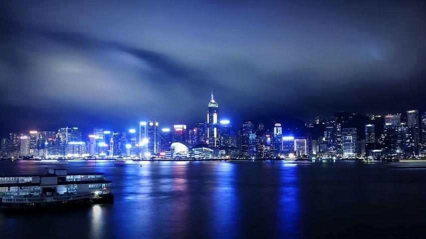 Victoria Harbour. Hong Kong Discoverhongkong DMC_CM1 Nightphotography Tsim Sha Tsui 尖沙咀 Leica Long Exposure Hkigers Mobile Photography My Country In A Photo