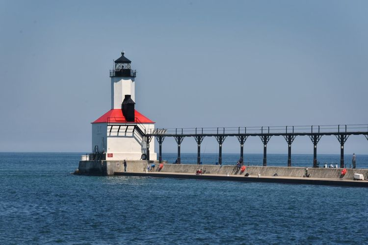 Architecture Lake Michigan Lakefront Lighthouse Lighthouses Michigan City Michigan City Lighthouse Architecture Building Exterior Built Structure Clear Sky Lighthouse Lighthouses Of Lake Michigan Outdoors Tower Waterfront