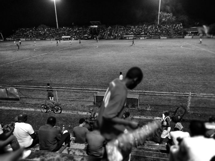 Arnett Gardens vs. Reno Premierleague EyeEmNewHere Peanuts Selling Red Stripe Beer Fan Passion Football Stadium Arnett Reno Kingston Jamaica Competition Stadium Night Large Group Of People Crowd Sport People Men Fan - Enthusiast Outdoors Soccer Field Match - Sport