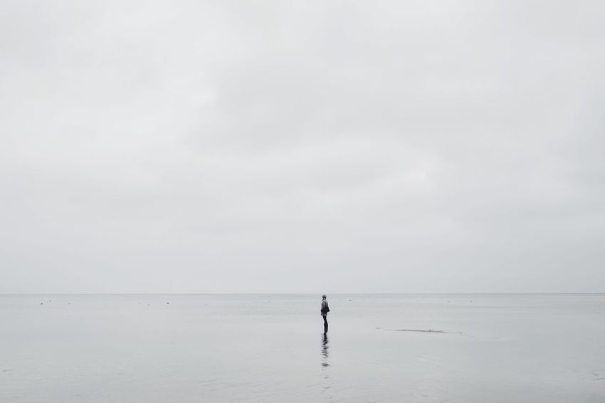 Walking On Water with Gummistiefel  // Calm Sea Empty Places Beach Stettiner Haff Minimalism Water Reflections Alone Depression Here Belongs To Me