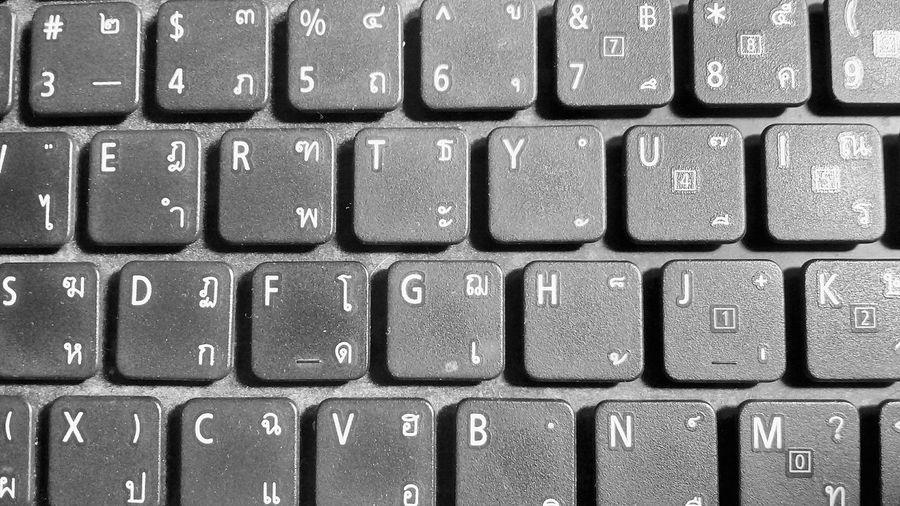 Full frame shot of computer keyboard