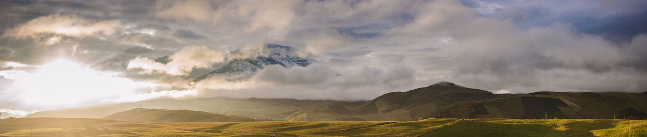 Chimborazo Volcano Beautiful Nature Canon Canonphotography Green Live For The Story Mountain Nature Nature Photography Panoramic Panoramic Photography Sky Sky And Clouds Sunrise