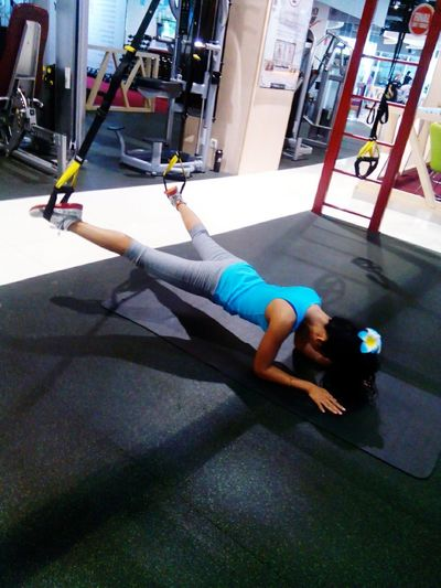 Atthegym Exercising Body & Fitness Biseps Triceps Bodybuildingmotivation Healthy Living Trx Training Growm