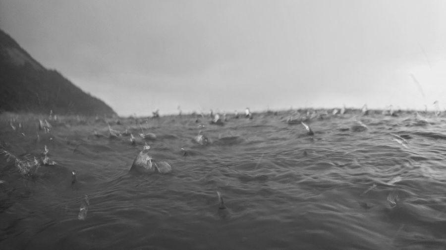 rain - bw Beach