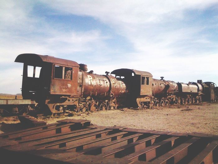 Southbound train. Talent with iPhone 3 in 2011 Uyuni, Bolivia Desert Traveling Train South The Traveler - 2015 EyeEm Awards Growing Better The Photojournalist - 2015 EyeEm Awards Landscape Exploring Seeing The Sights On The Way