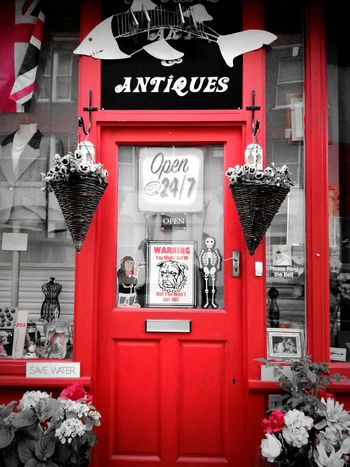 Red door of Notting hill Text Red Communication Outdoors Day No People Architecture Building Exterior Door Shop