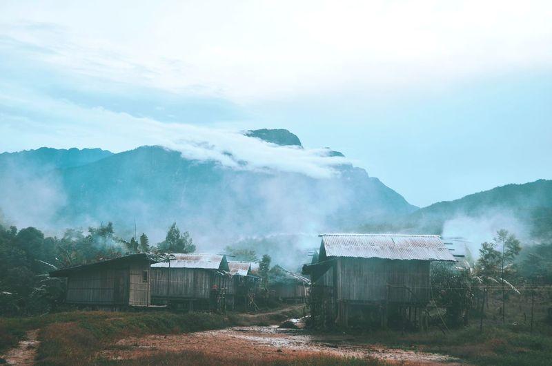 Village of denom atukbin, oksibil, pegunungan bintang, papua.