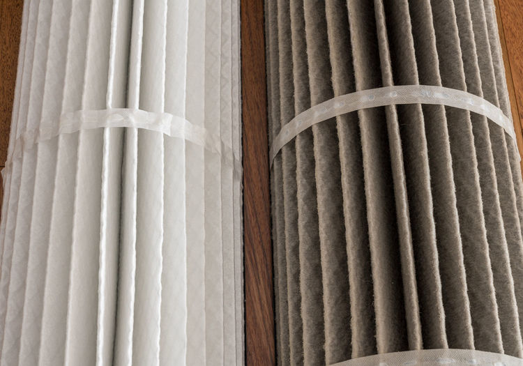 Detail shot of white curtain