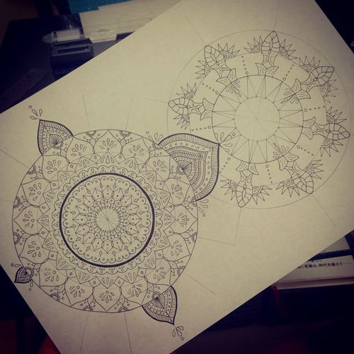 Mandala Art My Drowing Drawing Beautiful 曼荼羅 Create YohkoAmaterraArt