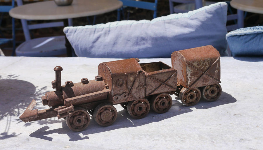 Toy Train Close-up Day Metallic Train No People Old Market Old-fashioned Outdoors Rusty Toy Train Transportation