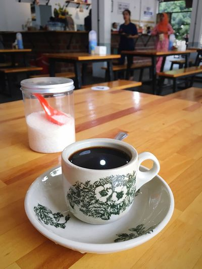 Black coffee Less Sugar No Sugar Drink Food And Drink Refreshment Table Mug Cup Coffee Crockery Saucer Incidental People Cafe Coffee Cup Hot Drink Food Freshness Restaurant Indoors  Coffee - Drink Still Life Tea