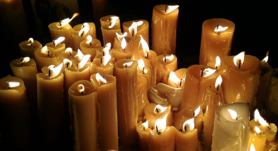 Candle Flame No People Illuminated Burning Indoors  Prayer Prayertime Light In The Darkness Burning Candles Candles In The Wind