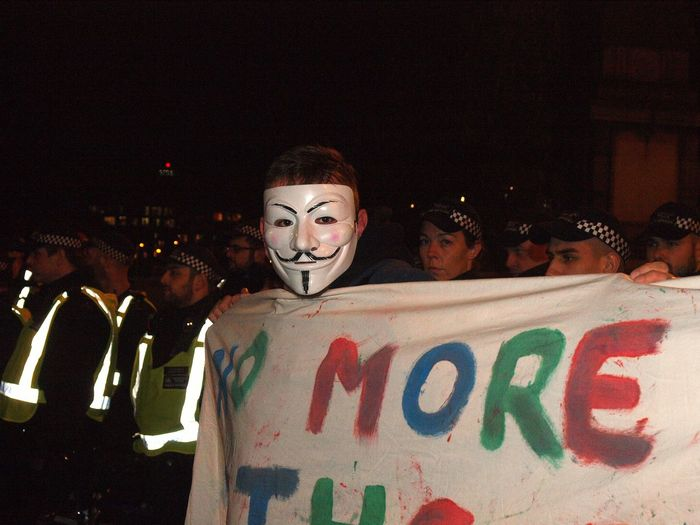 Million Mask March. London. November 5th 2017 Photojournalism Metropolitan Police Anticapitalism Steve Merrick Anonymous Million Mask March Stevesevilempire Million Mask March 2017 Million Mask March. London. November 5th 2017 Anonymous Mask Codename V Olympus Zuiko Protest London News
