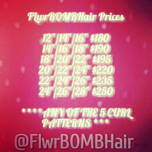 visit www.FlwrBOMBHair.bigcartel.com to order these bundle deals! Virgin Hair FlwrBOMBNation