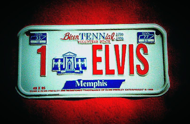 Elvis Presley License Plates Licenseplate Tennessee Elvis Elvis Has Left The Building Registration Number Plates License Plate Elvispresley Elvis❤ Licenseplates Elvis Aaron Presley Memphis,tn Memphis, TN Graceland Memphis Id Registrationplate Elvis Is Still Alive  Tenessee ElvisAaronPresley Number Plates License Tag License_plate Rego Plate