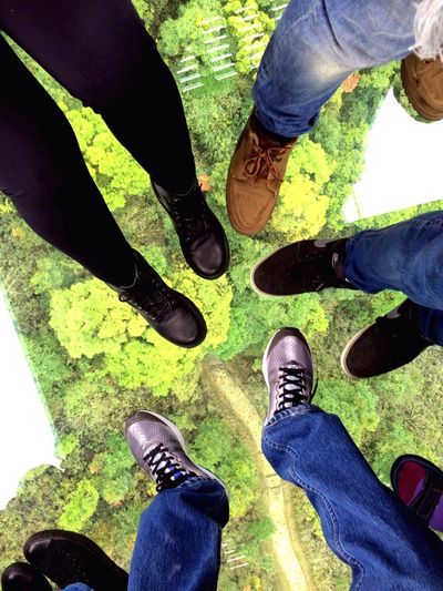 Low Section High Angle View Cristal Clear Nongping360 Hongkong Hongkong Photos Human Foot Shoe Personal Perspective Human Leg Real People Jeans Men Standing Lifestyles Human Body Part Nice Day Nice View