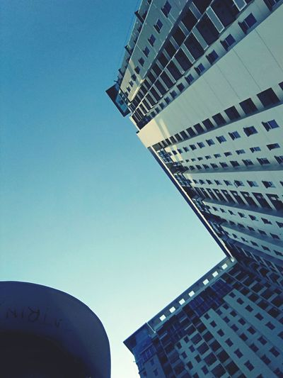 Architecture Modern Built Structure Skyscraper Building Exterior Business Finance And Industry City Low Angle View Sky Day No People Clear Sky Outdoors