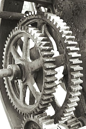 Gear Machine Part Metal Close-up Machinery No People Day Outdoors Metal Industry Built Structure EyeEmNewHere The Week On EyeEm EyeEm Selects Curtin Village In Pennsylvania Old Ironworks Building Vintage Gears Metal
