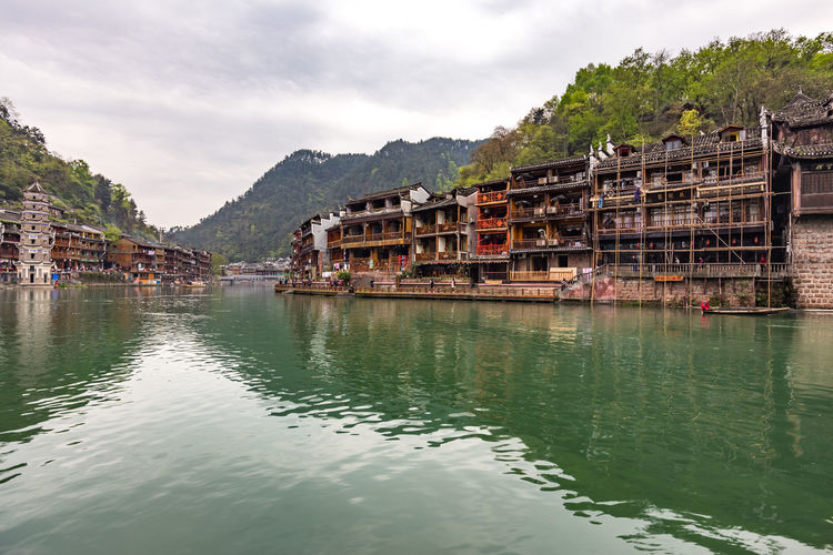 HDR taken at Phoenix Village, Hunan China Asian Culture FengHuang FengHuang Old Town HDR Hunan Hunan Province, China Architecture Building Exterior Built Structure China Outdoors Phoenix River Scenics Travel Destinations Village Waterfront