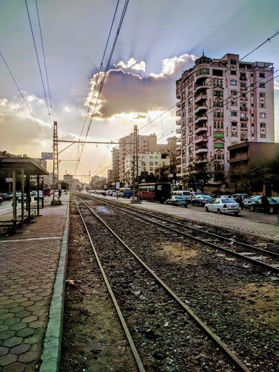 sunset at Cairo totally different Egypt Best EyeEm Shot Winter Cairo Best EyeEm Nature Old Place Life Cloud - Sky Thursday 2018 Street EyeEmNewHere EyeEm Selects Enjoying Life EyeEm Lifestyles Road Travel Destinations Traffic Mobility In Mega Cities Railroad Track Sky Rail Transportation Outdoors Architecture City Modern No People Day Nature