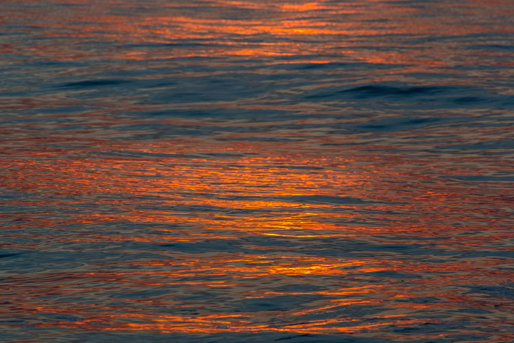 Backgrounds Beauty In Nature Bright Bright Orange Color Palette Colour Of Life Colourful Evening Light Full Frame Idyllic Nature Ocean Orange Color Outdoors Rippled Scenics Sea Sunset Water Water Surface Waterfront