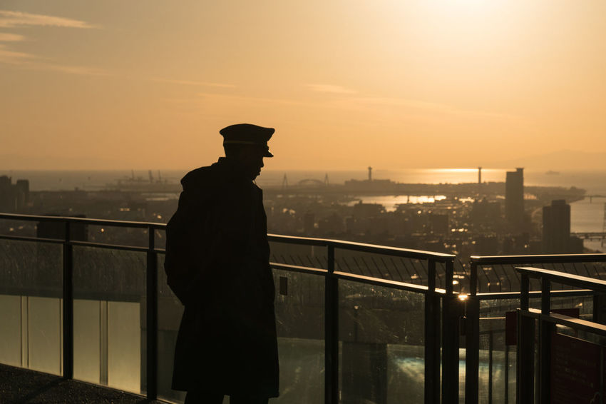 City Cityscape Men One Man Only OSAKA Silhouette Sunset Urban Skyline