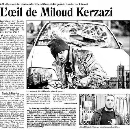 Old Article de Presse Portrait of Me