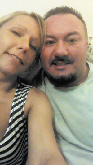 Me and my hubby Hanging Out