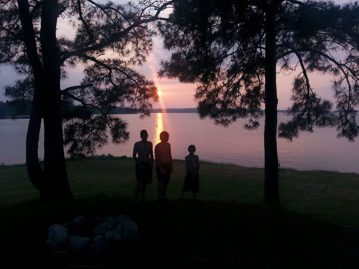 Sunset Toledo Bend Dam My Boys ♥ Texas Skies Outdoors Relaxing