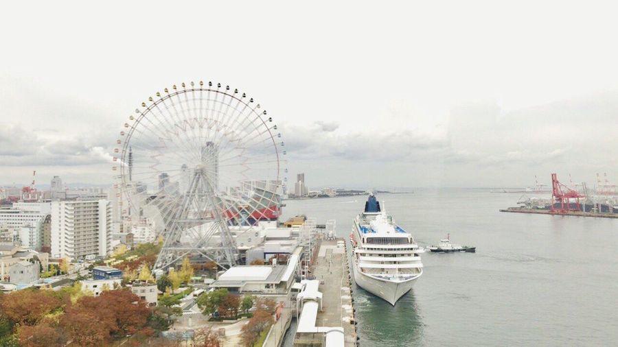 Tempozan, Osaka, Japan, cloudy ,iPhone7plus