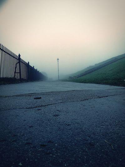 Fog Weather Nature Rain Environment Outdoors Sky Day No People Lane Embankment Streetlamp Muggy Weather
