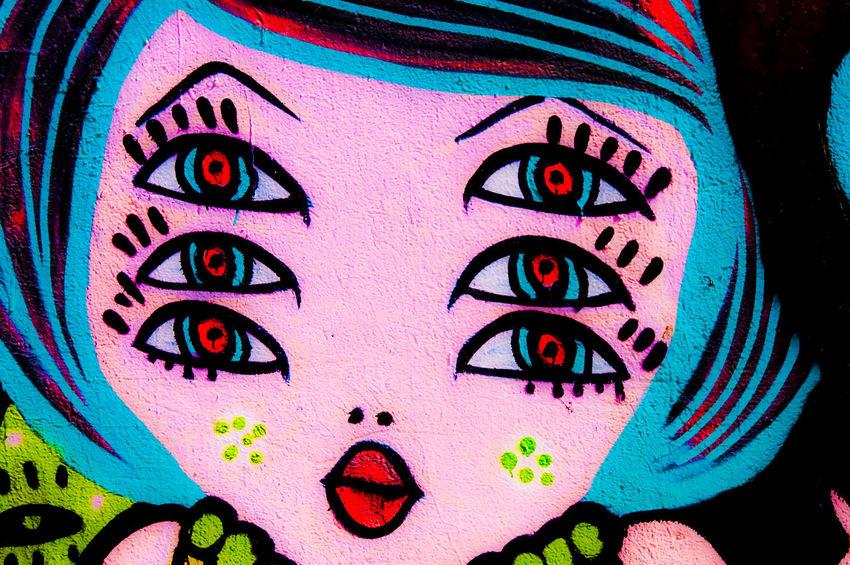 Graffiti Art Face Ephemeral Wall Art