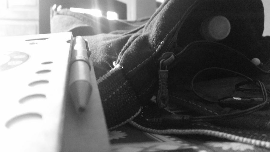 Indoors  EyeEmNewHere My Stuff Personal Perspective A Notebook Black And White Photography Pencil Spooky Loved It