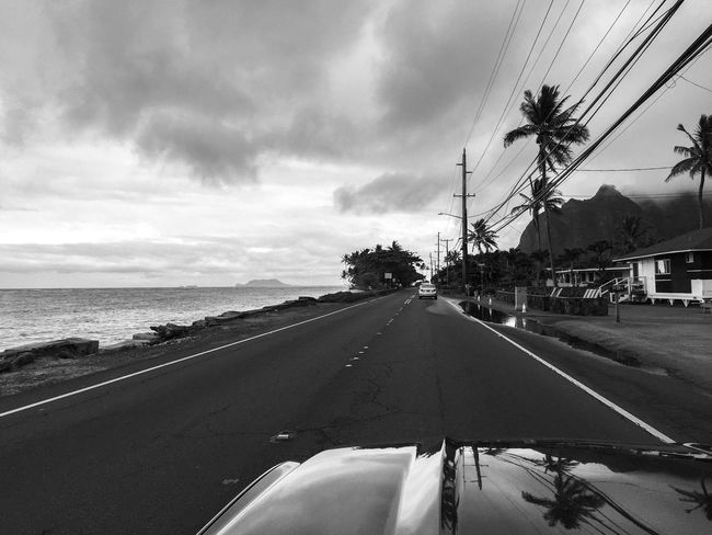 Driving the north shore of Oahu Black And White Car Convertible Cruisin Day Ford Ford Mustang Having Fun Hawaii Land Vehicle Mustang No People Oahu On The Road Open Top Outdoors Cruising Sea Self Portrait Sports Car The Drive The Way Forward Transportation USA Perspective Let's Go. Together. Second Acts