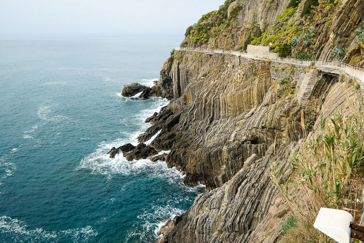 Via Dell' Amore - Italy...... Cinque Terre EyeEm Nature Lover Vacations Beauty In Nature Cliff Day Eye4photography  Horizon Over Water Nature No People Outdoors Rock - Object Rock Formation Scenics Sea Sky Tranquil Scene Tranquility Walkway Water