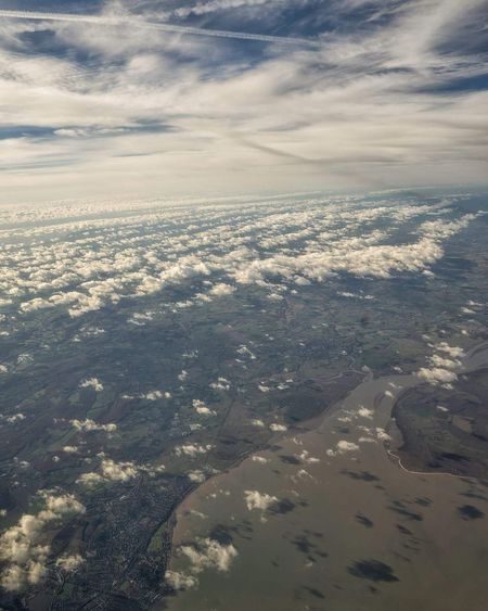 A look from above Aerial View Cloud - Sky Beauty In Nature Cloudscape Nature Outdoors Dramatic Sky No People Airplane Sky Taking Photos Travel Scenics Travelblogger Aerial Photography Travel Destinations
