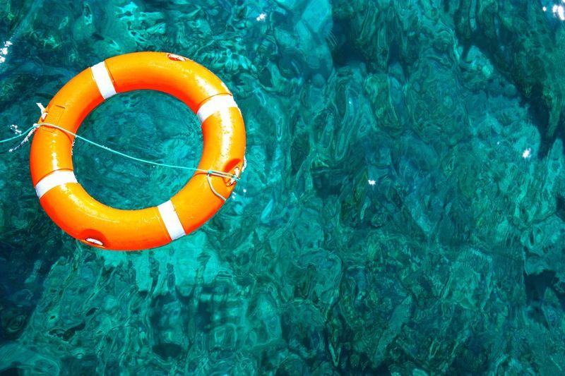 Life Belt In Swimming Pool