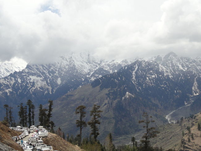 Himalayas Beauty In Nature Cloud - Sky Cold Temperature Day Environment Land Landscape Mountain Mountain Peak Mountain Range Nature Non-urban Scene Outdoors Plant Scenics - Nature Sky Snow Snowcapped Mountain Tranquil Scene Tree Winter