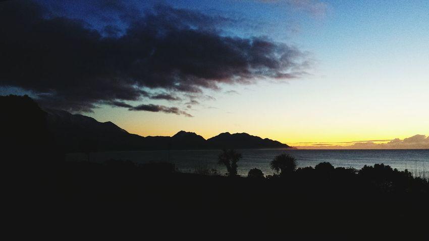 Kaikoura Silouette & Sky Sunrise Dramatic Sky Romantic Sky Cloudscape Shore