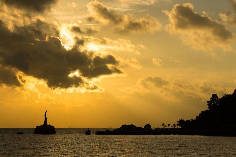 Sunrise Sky Water Cloud - Sky Silhouette Scenics - Nature Orange Color Beauty In Nature Sea No People Outdoors