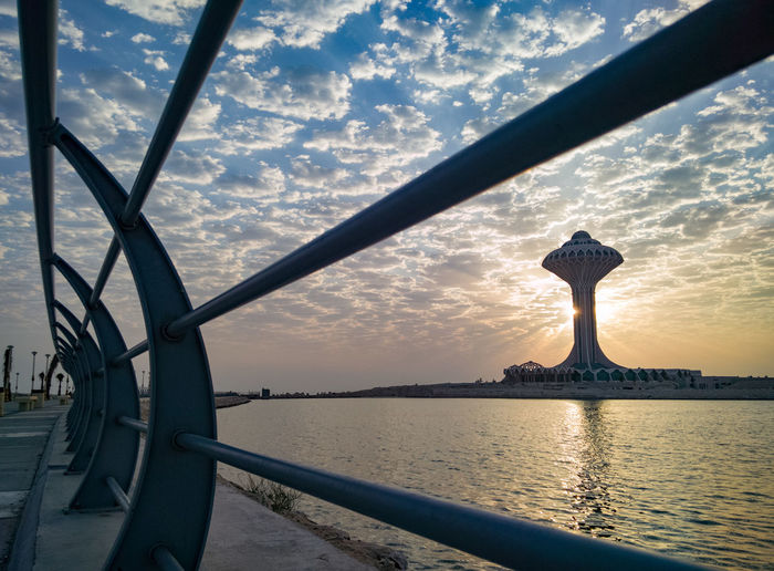 Water Sky Cloud - Sky Travel Destinations Statue Outdoors Tourism No People Sunset Nature Vacations Sculpture Day Architecture Beauty In Nature City khobar