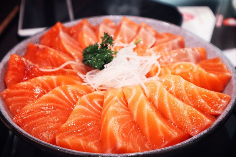 Close-up of seafood in bowl