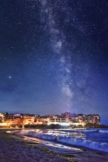 Starry night over Sozopol Bulgaria Bulgarian Nature Nikon Nikonphotography Nikon D7200 Sigma Milky Way Stars Star - Space Night Nightphotography Nightsky Long Exposure Sea Sea And Sky Seaside Seascape Wave Beach Beach View Space Milky Way Space And Astronomy